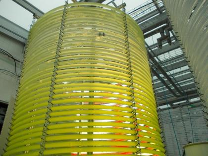 Fotobioreaktor pro kultivaci řas provozovaný v Ústavu výzkumu globální změny AV ČR