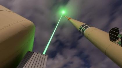 Záměrem projektu EU je dokázat paprskem laseru působit na svedení bouřkového blesku na místo, kde nezpůsobí žádnou škodu, příp.dosáhnout vybití bouřkových mraků