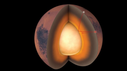 Otřesy na Marsu prozradily strukturu planety. Jádro se roztavilo a je větší než se předpokládalo.