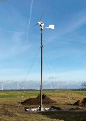 Výška stožáru větrné elektrárny závisí na síle větru a stavebních předpisech