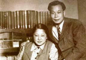 Čchien San-čchiang s manželkou Che Ce-chuej ještě ve Francii v roce 1947 /Foto: Wikipedie/