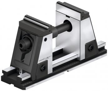 Zcela zapouzdřený 5osý svěrák SCHUNK KONTEC KSX-C2 disponuje rychlovýměnným systémem čelistí a aktivní vtahovací silou pro přesné 6stranné obrábění. Umožňuje na 5osých strojích efektivní obrábění s vysokou přesností stejně jako krátké přípravné časy. /Obrázek: SCHUNK/