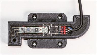 3D tištěný senzor v plastovém pouzdru