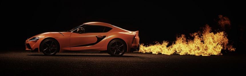Legendární Toyota Supra ožila v oranžovém provedení