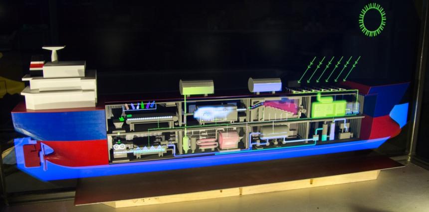 Model procesní lodi pro EXPO 2020 /foto: Black & Biscuit/