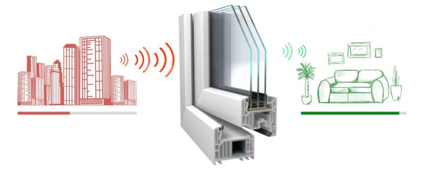 Okno vyrobené z profilu VEKA SOFTLINE 82 skvěle tlumí hluk