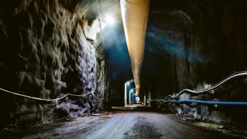 Podzemní prostory úložiště Onkalo ve Finsku /Foto: Posiva/